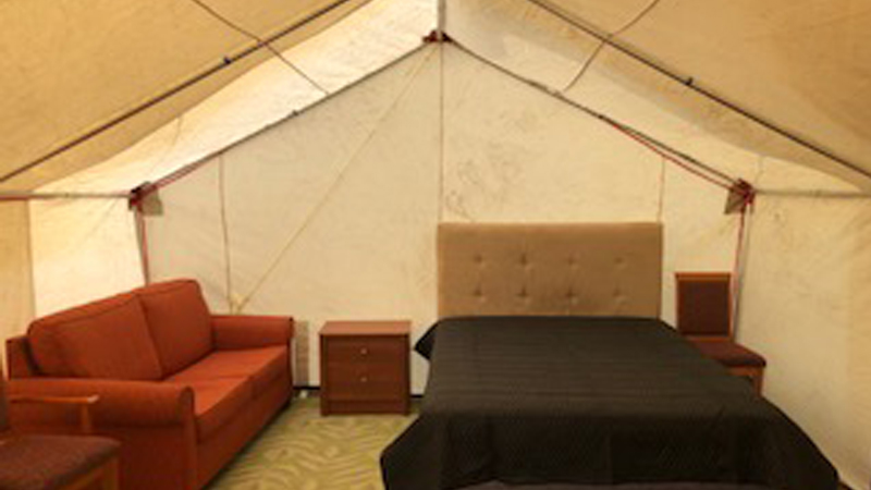 2 Glamping Tents (14' X 16' x 5' walls)